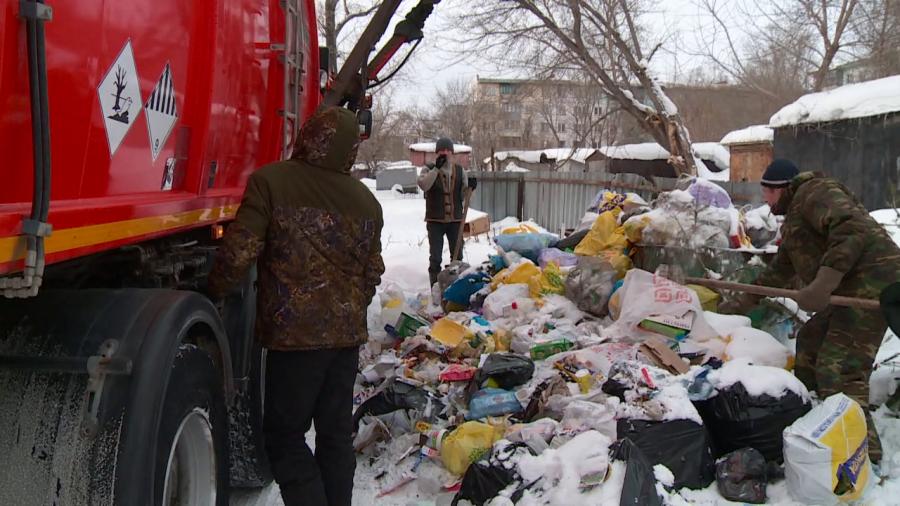 Вывоза мусора с адреса: ул. Разина, 16