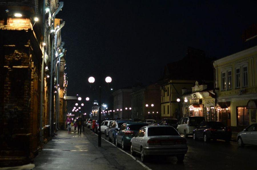 Осенью 2019 года старинную улицу Советскую (Успенскую) подсветили фонарями