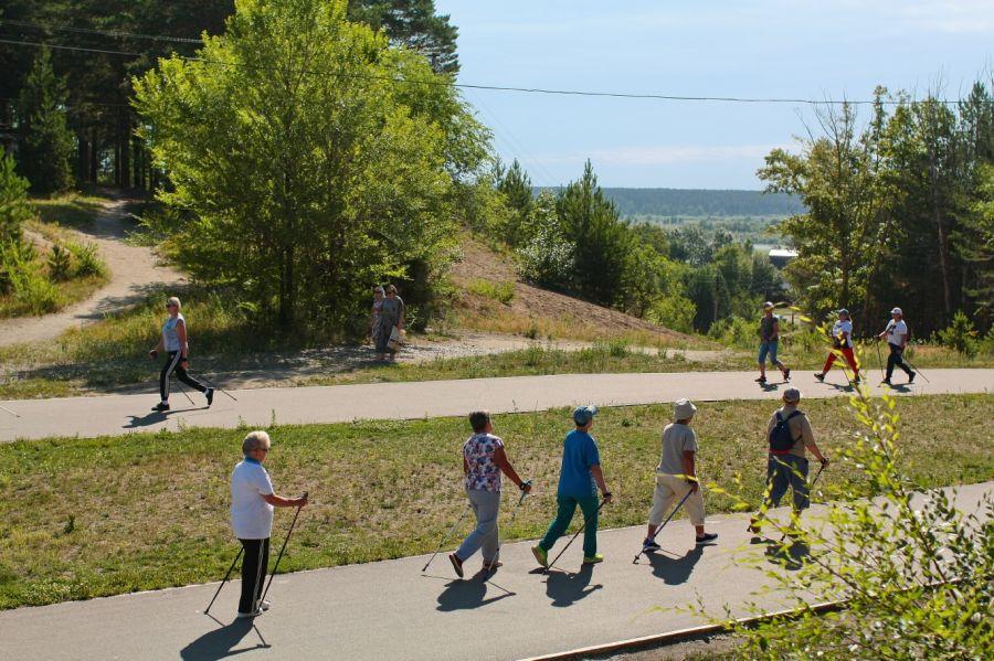 Приходите к нам ходить: в Бийске все больше любителей скандинавской ходьбы