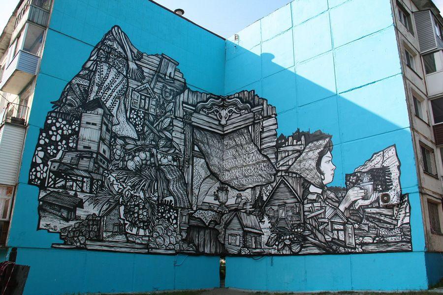 Бийскую Аленушку с улицы Советской сравнили с граффити из других городов