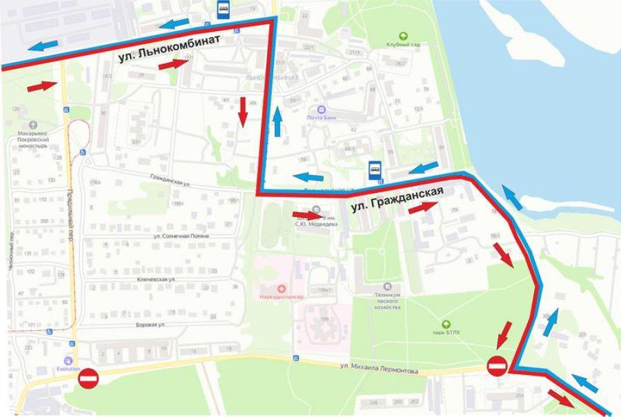 В Бийске с 30 августа перекроют движение по улице Лермонтова