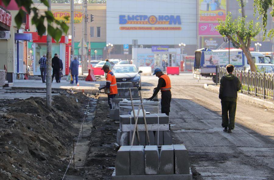 В Бийске приступили к ремонту дорог вдоль площади 9 Января