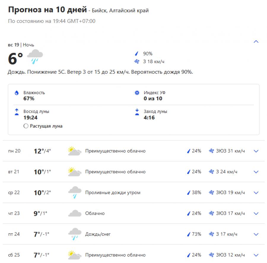 Появилась снежинка: сервисы погоды прогнозируют снег в Бийске