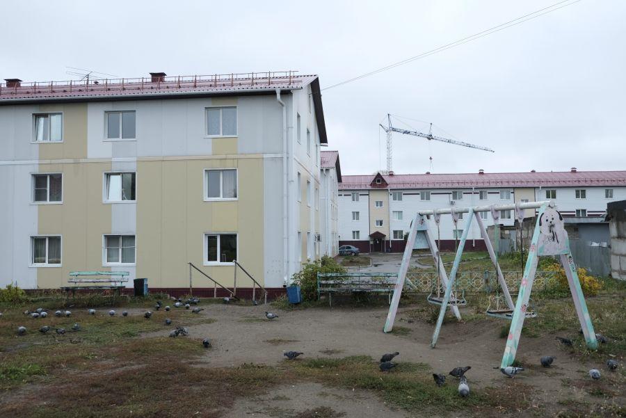 """Дома на ул. Спекова, известные в народе как """"три поросенка""""."""
